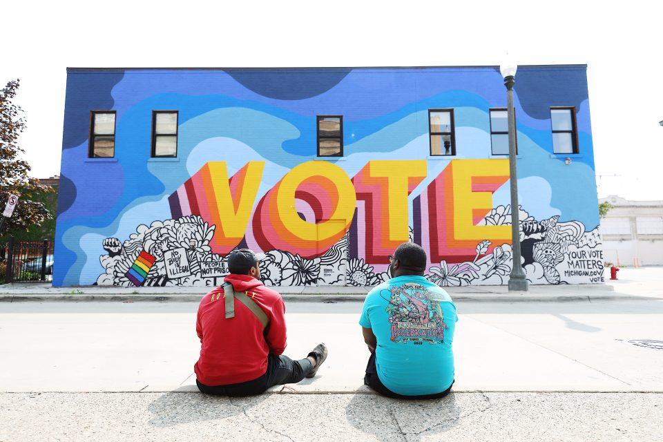Detroit artist creates mural that sparks civic engagement conversation