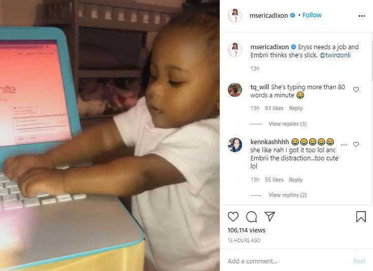 'Look at Her Go!': Erica Dixon's Older Twin Daughter Leaves Hearts Melting After She Learns How to Walk