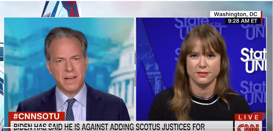 """[VIDEO] Believe it Or Not, Jake Tapper Actually Humiliated Biden's Deputy Campaign Chair Over """"Court Stacking"""" Question"""