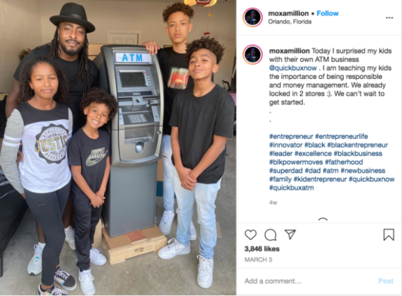 'Next Level Greatness': Florida Father Surprises His Four Kids with ATM Business