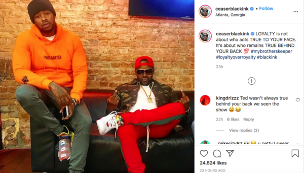 'Black Ink Crew' Star Ceaser Emanuel Shares Cropped Photo About Loyalty, Fans Question 'Who Done Did What Now?'