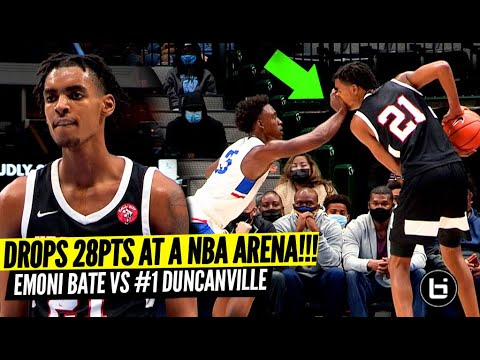 Emoni Bates FIRST GAME on an NBA Court Was Wild! YPSI Prep VS #1 Duncanville