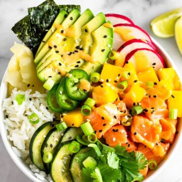 Salmon Poke Bowl with Spicy Mayo