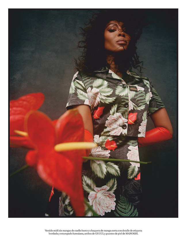 Editorials. Naomi Campbell. Vogue Spain. Images by Nadine Ijewere.
