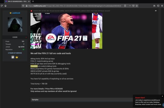 EA source code stolen by hacker claiming to sell it online