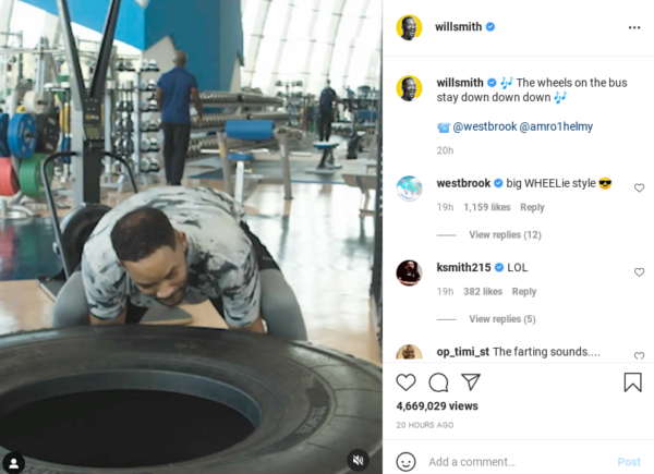 'Internally Crying': Will Smith Tried to Do a Tire Workout and It Didn't End Well